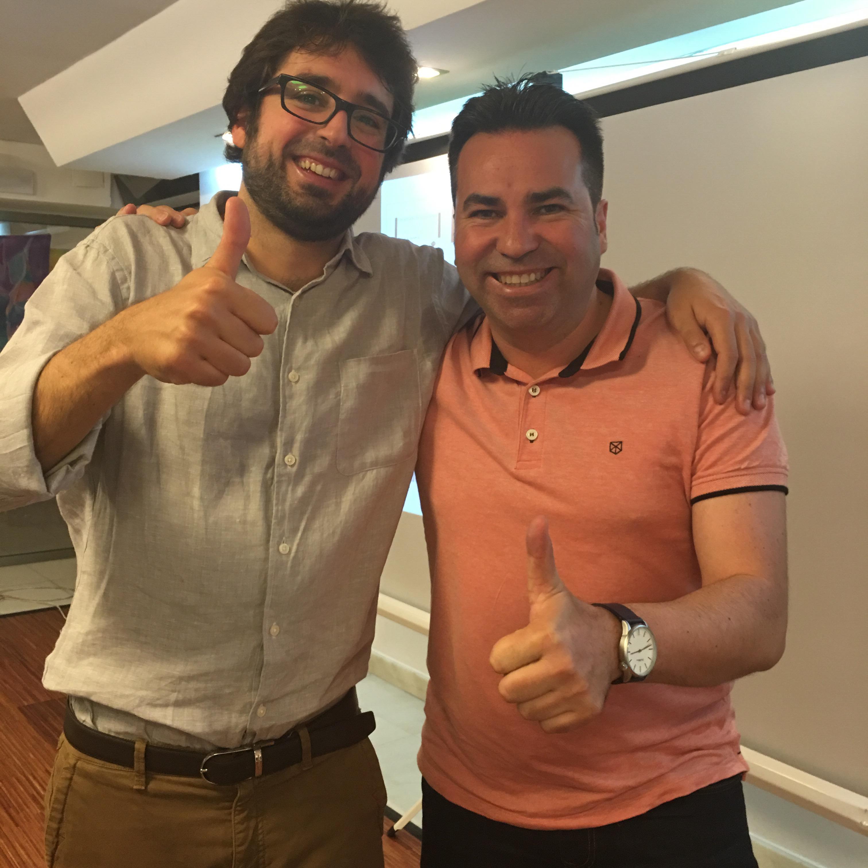 Con Borja Vilaseca en el taller